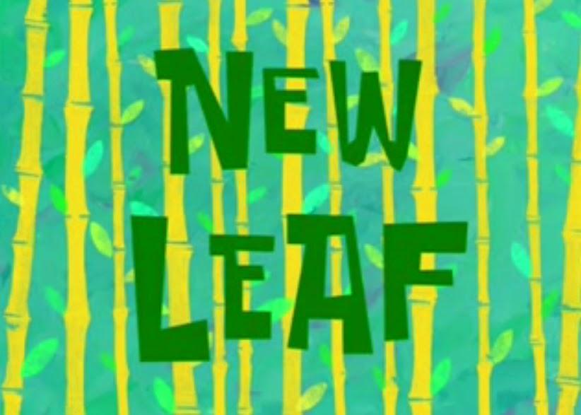 Cerita Bergambar Spongebob New Leaf Versi Bahasa Inggris