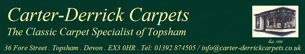 Carter-Derrick Carpets, the classic carpet specialist of Topsham.
