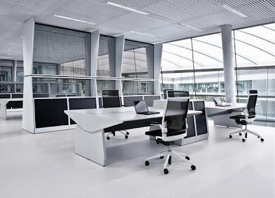 kantor minimalis dengan konsep modern