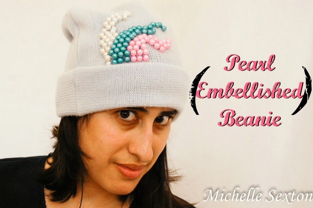 Upcycle a beanie by embellishing with beads - click through and find out more.