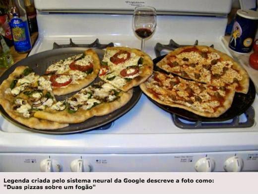 Duas pizzas sobre um fogão