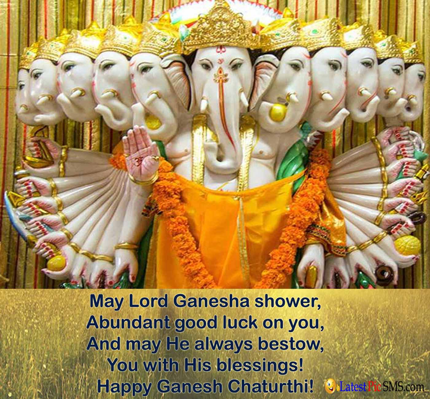 10 head of lord Ganesha Picture Quote
