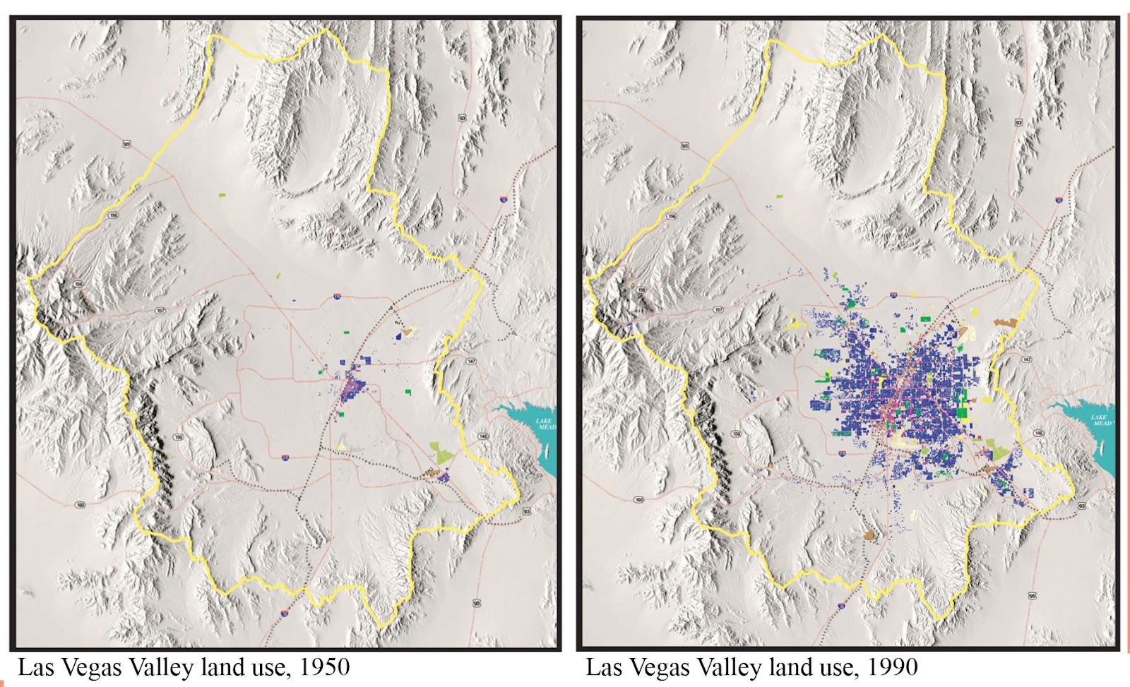 fig 1 las vegas metropolitan growth between 1950 and 1990 photo courtesy of southern nevada water authority