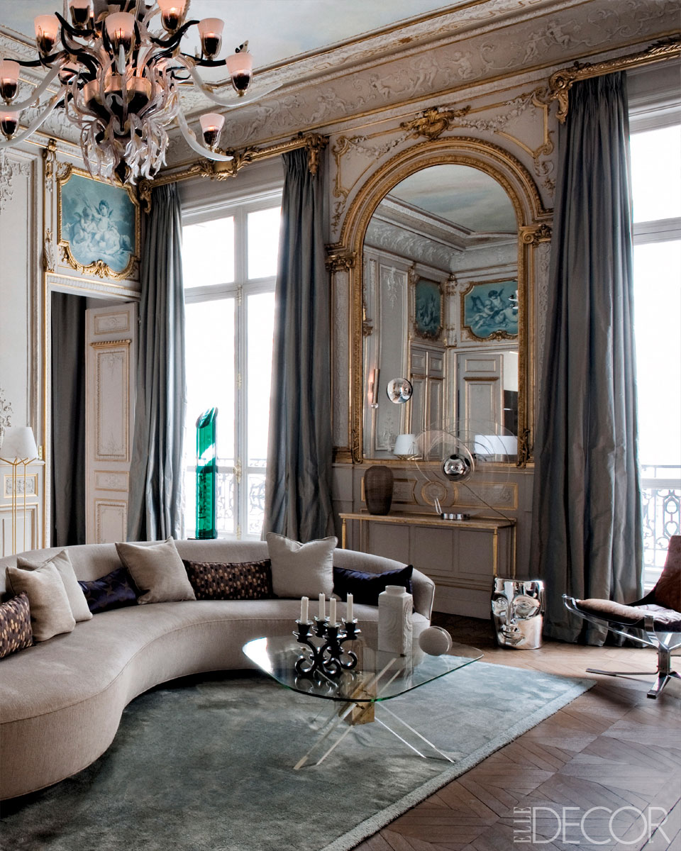 attention to french details glamorous paris apartment. Black Bedroom Furniture Sets. Home Design Ideas