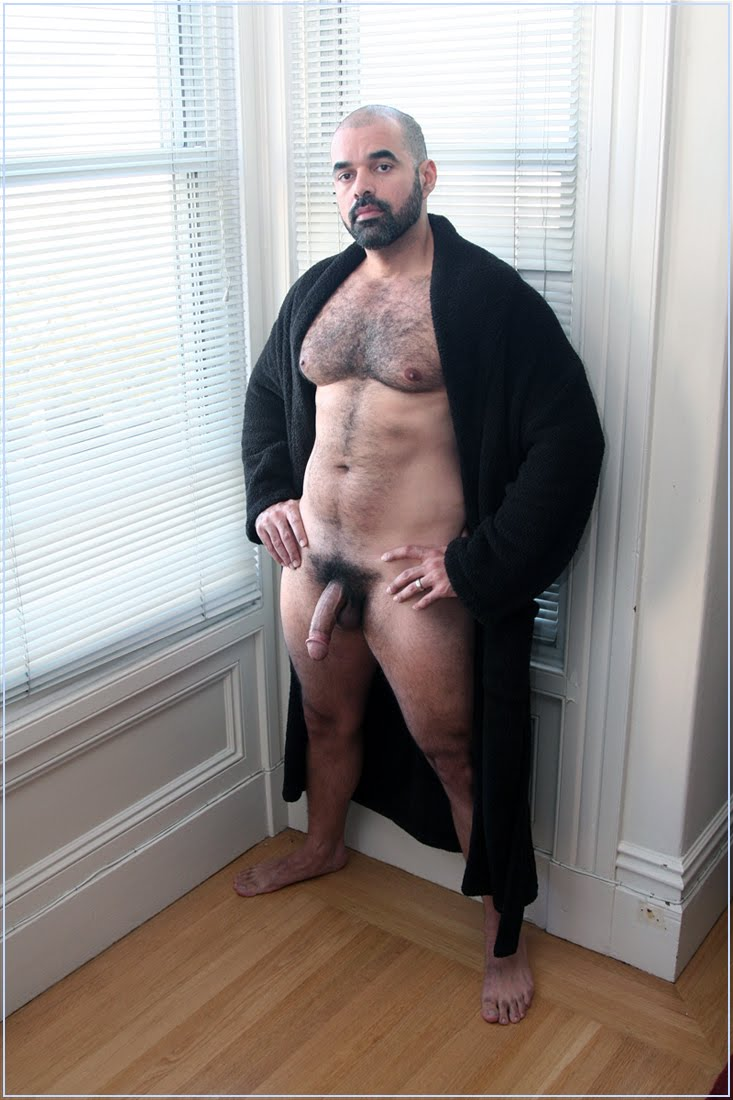 Hot Hairy Men In Bathrobe