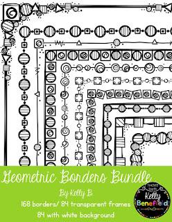 https://www.teacherspayteachers.com/Product/Geometric-Borders-Bundle-1929715