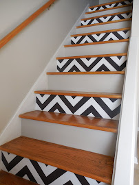 DIY: Chevron Stairs