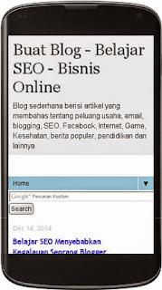 Gambar Laman blog Menjadi Mobile Friendly
