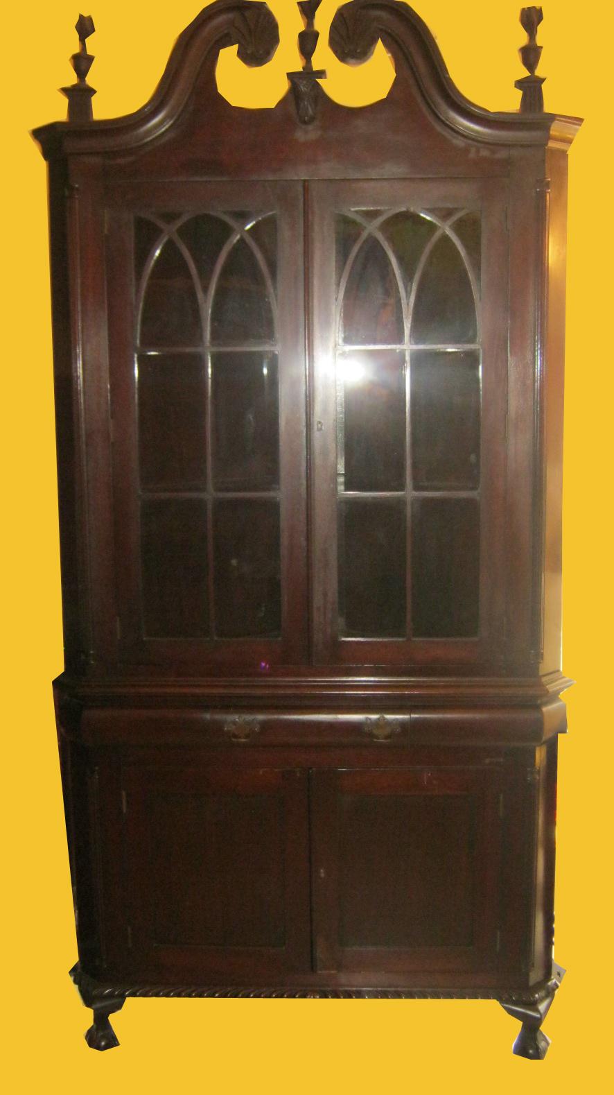 Uhuru Furniture Collectibles Antique Mahogany Corner
