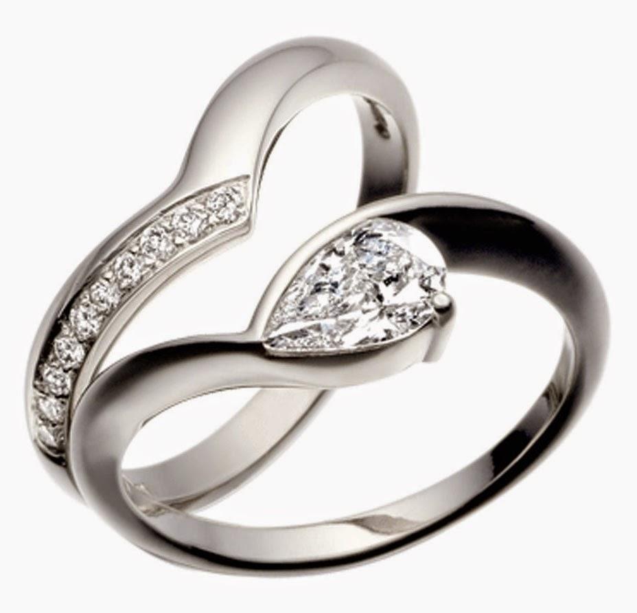 Unique Shape Diamond Wedding Band Sets Simple Images