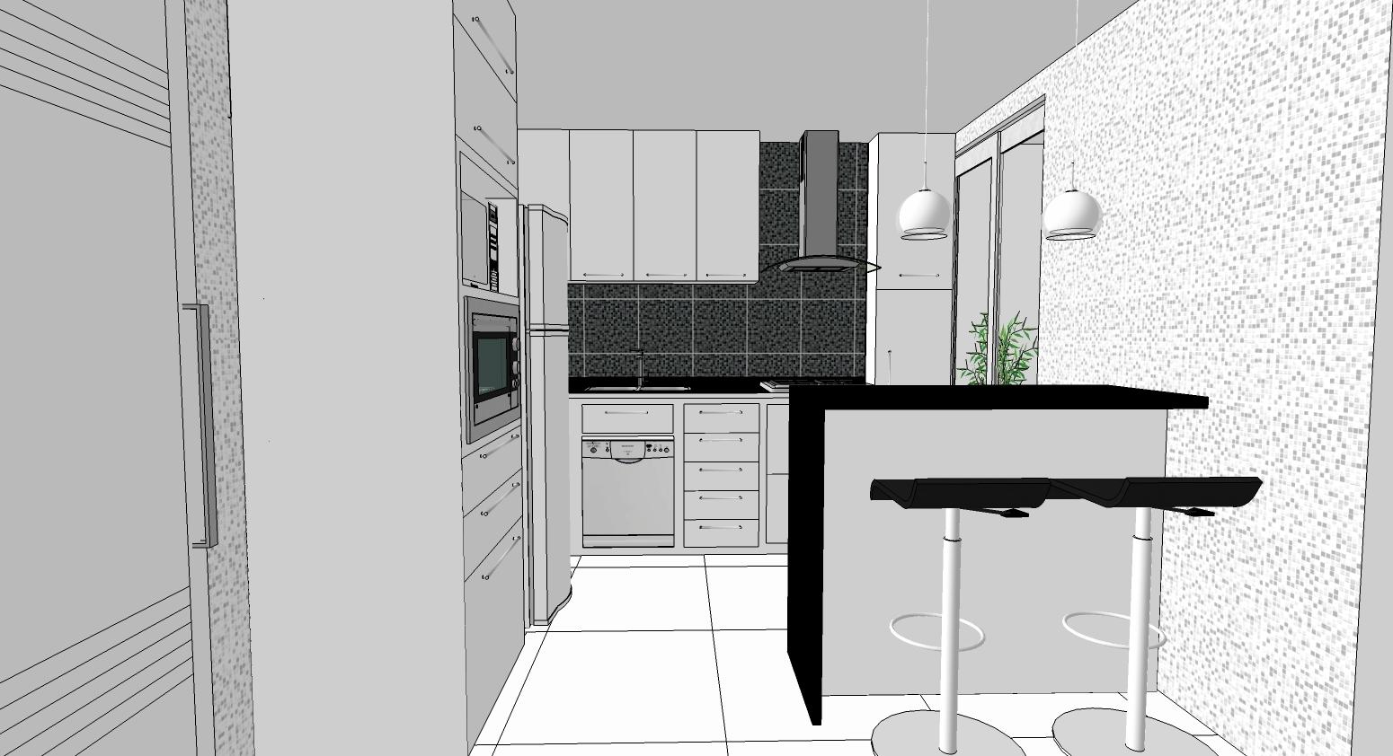 AMBIENTE IDEAL: Mudanças no projeto da cozinha e novas ideias. #597651 1550 842