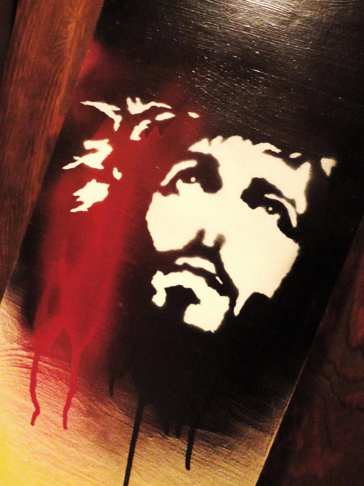 Jesus Stencil Annie Ink