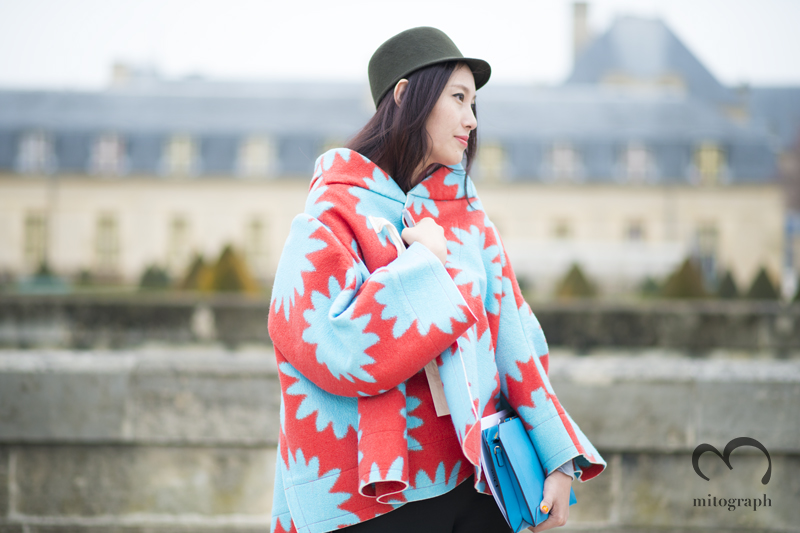 mitograph Anita He wearing Comme Des Garcons Jacket After Dior Paris Fashion Week 2013 2014 Fall WInter PFW Street Style Shimpei Mito
