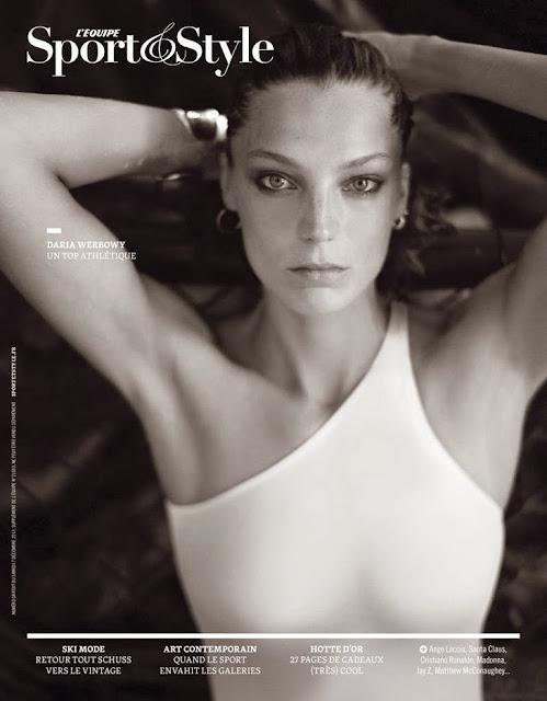 Magazine Photoshoot : Daria Werbowy Photoshoot For Lequipe Sport & Style Magazine December 2013