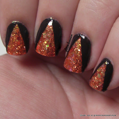 LA Splash Nail Art Glitter in Conjure Sally Girl in 812161 (neon orange), nail art