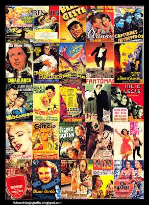 collage con posters de cine antiguos