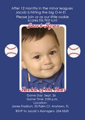 Rookie of the Year Birthday Invitations