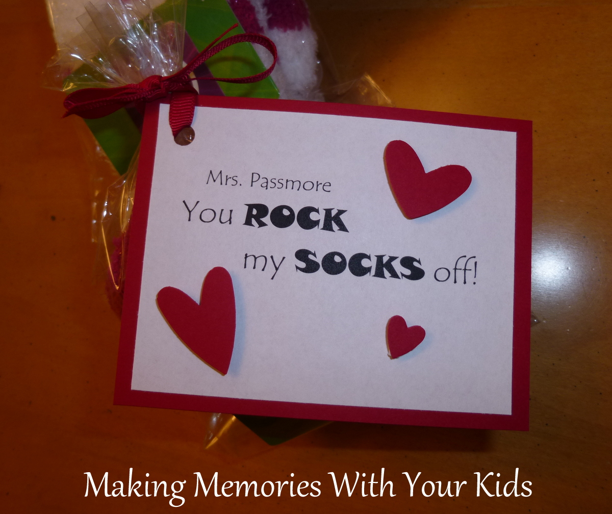 You ROCK My SOCKS Off Valentine  Making Memories With Your Kids