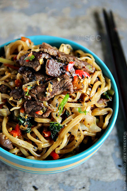 Beef Yakisoba -Japanese Fried Noodles w/ beef