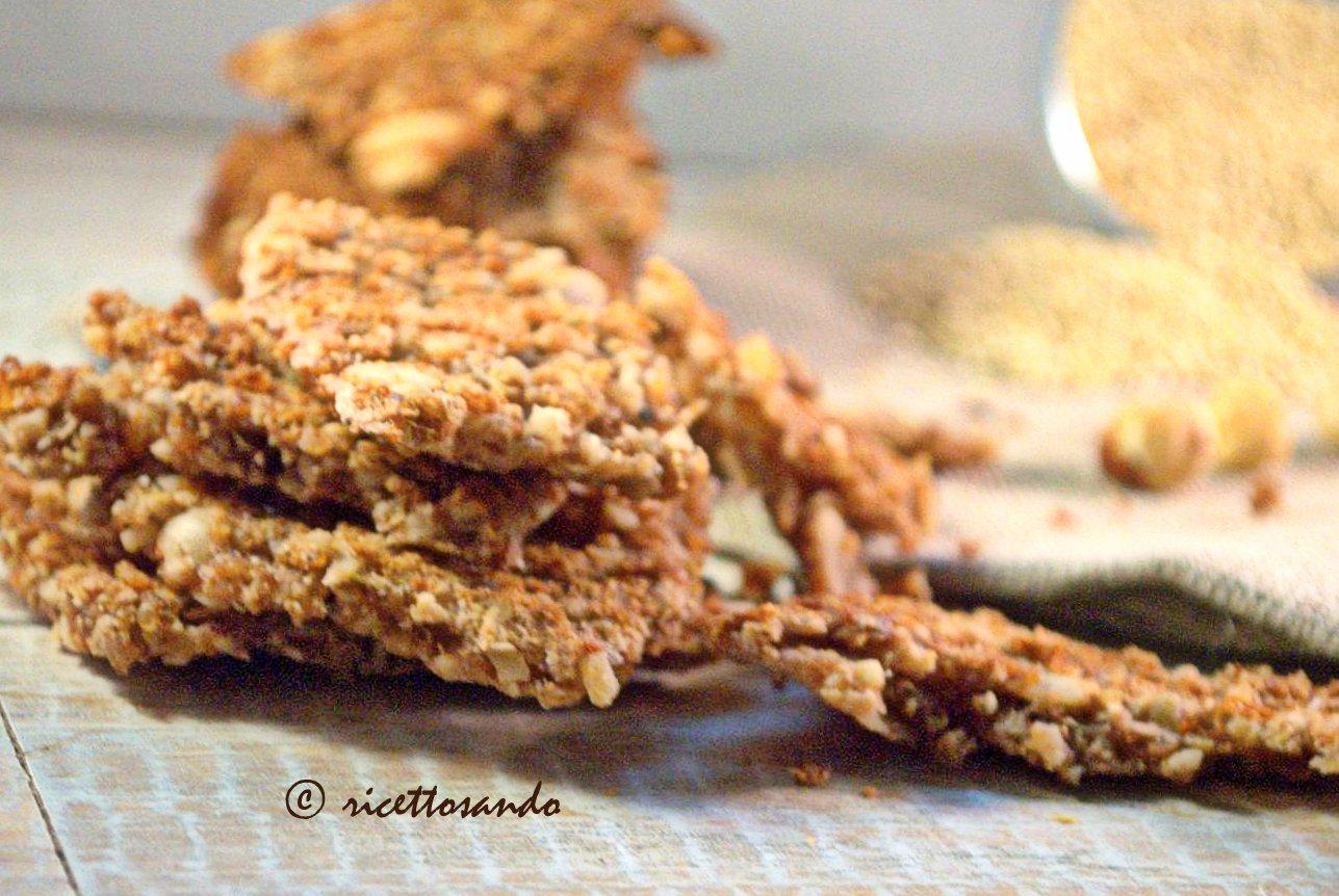 Gallette dolci di quinoa con nocciole e cioccolato light ricetta dolce dietetica