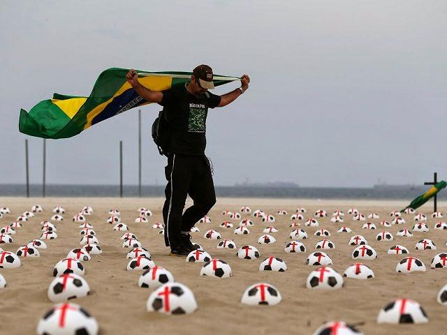 Portestas contra el Mundial de Brasil