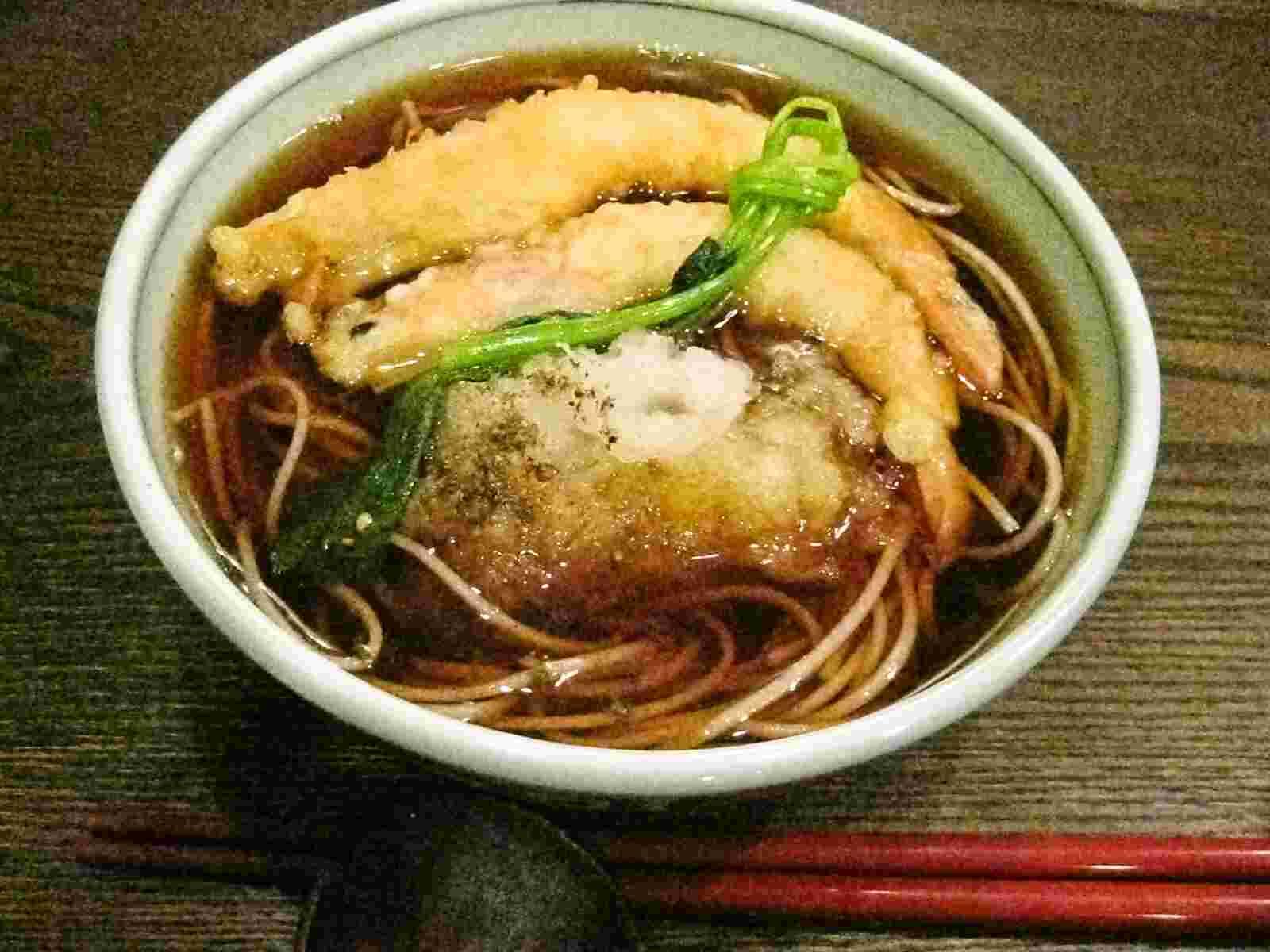 Last food of the year -- toshikoshi soba / year-end buckwheat noodles ...