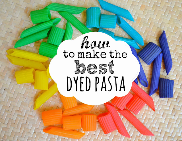 Mommy Testers, how to make the best dyed pasta