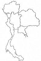 ลายเส้นแผนที่ประเทศไทย