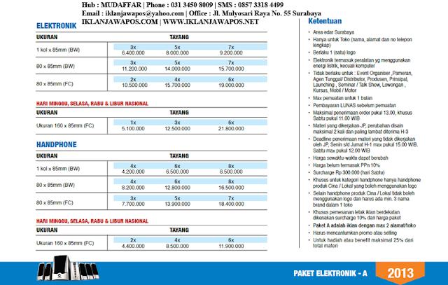 Jawa Pos Iklan Paket Elektronik 2013