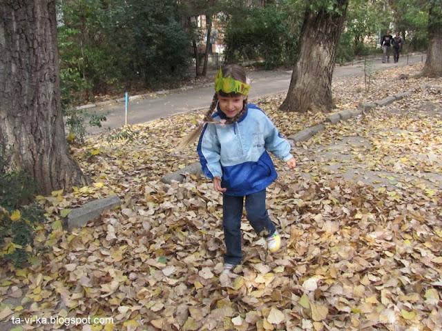 корона из осенних листьев crown fall craft