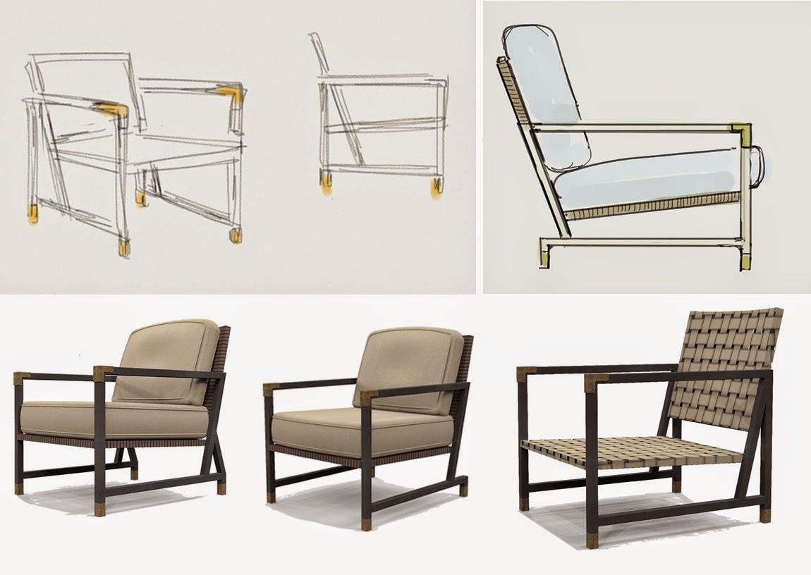 Aluminum strap outdoor seating
