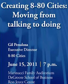 Gil Penalosa speaks in Burlington