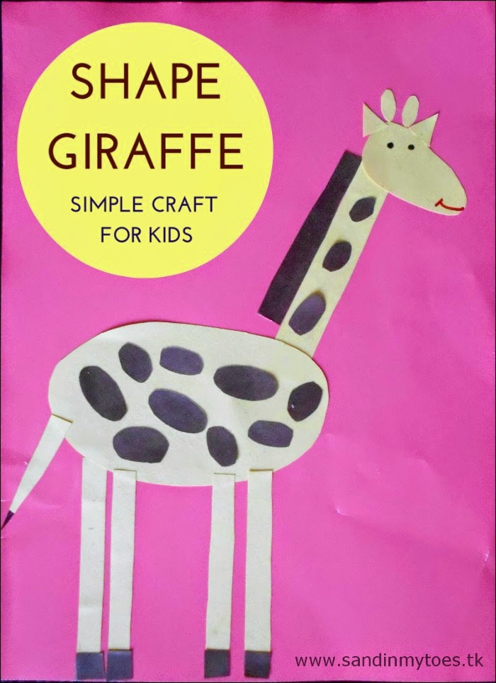 Shape Giraffe - Basic shapes craft for kids