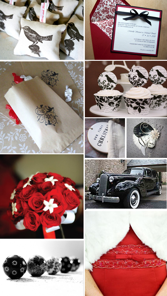  Four Calling Birds Wedding Inspiration Board