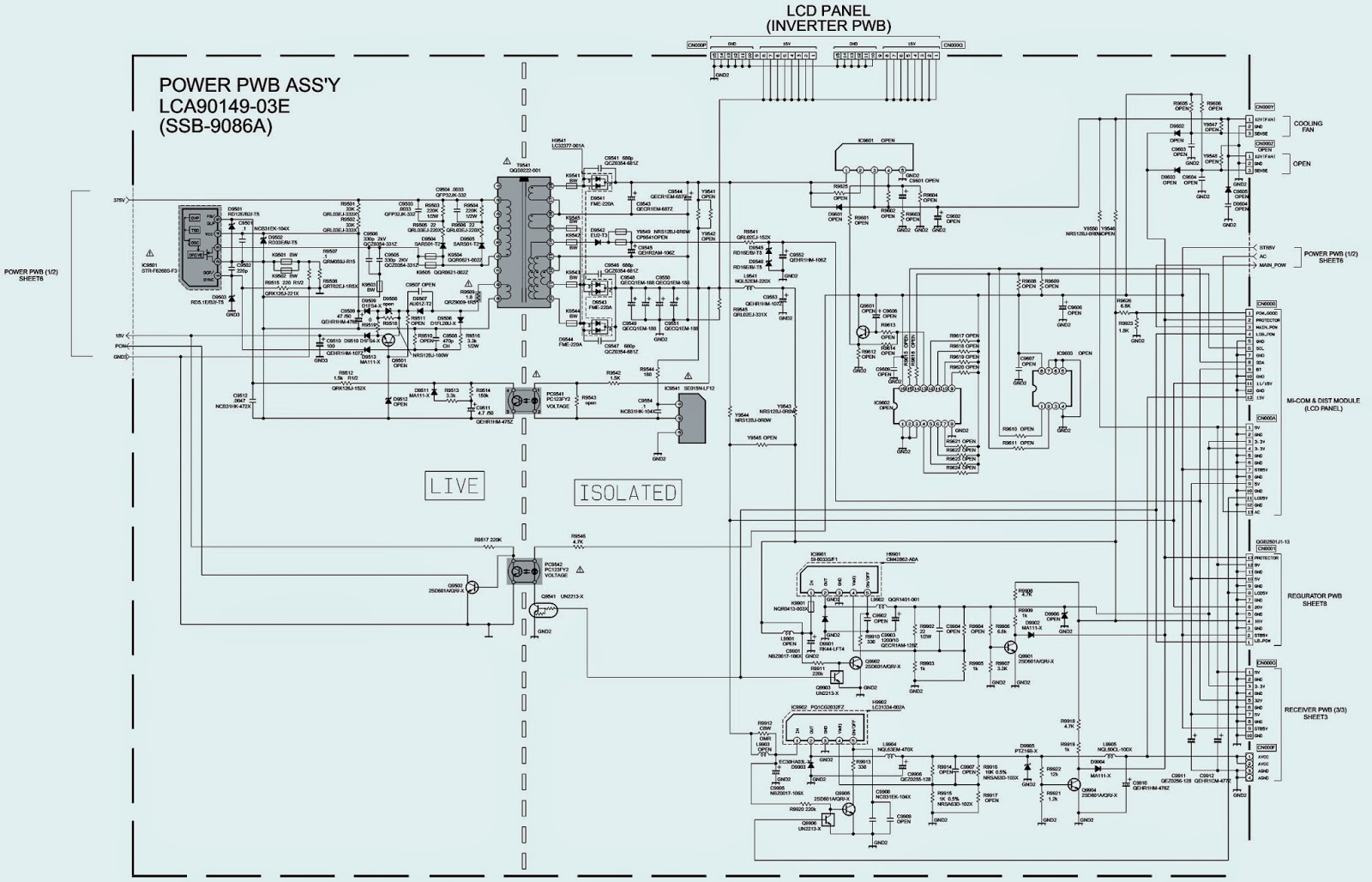 Jvc Lt26wx84  T  U2013 Lcd Flat Tv  U2013 Power Supply Regulator