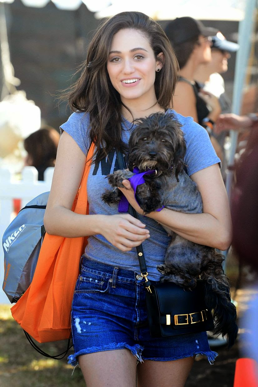 Emmy Rossum Adopted a Dog Photoshoot at the NKLA Adoption Event