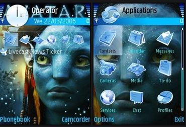 Symbian Themes, Download Themes for Symbian s60 mobiles, Download Avatar Animated Theme, Animated Themes, Nokia Mobile Themes, 240x320 Themes, Nokia N95 Themes, Nokia E70 Themes,