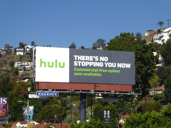 Hulu There's no stopping you now billboard