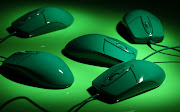 Green Computer Mouse