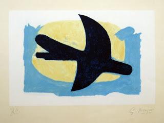 Pájaro azul y amarillo - Georges Braque