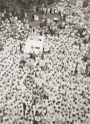 Missa Campal defronte à Igreja Matriz nos anos 1960