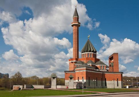 Masjid memorial moskow atau moscow memorial mosque dipoklonnaya hill