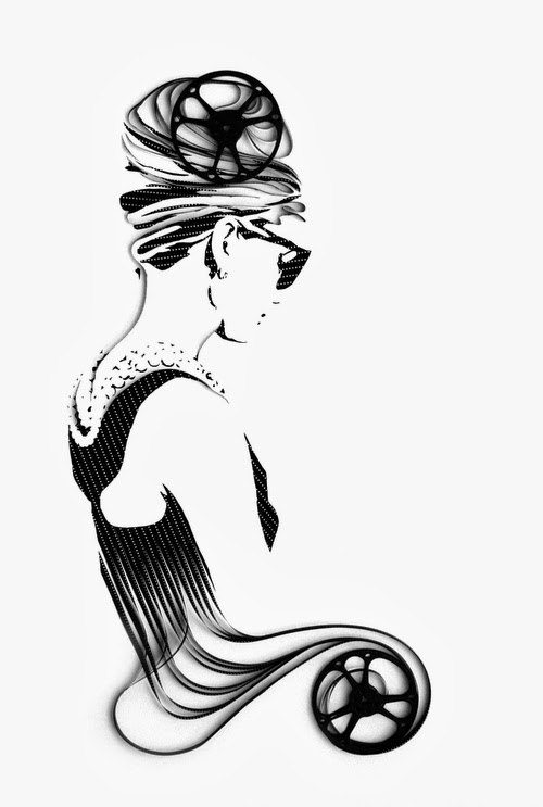 03-Audrey-Hepburn-Erika-Iris-Tape-Art-www-designstack-co