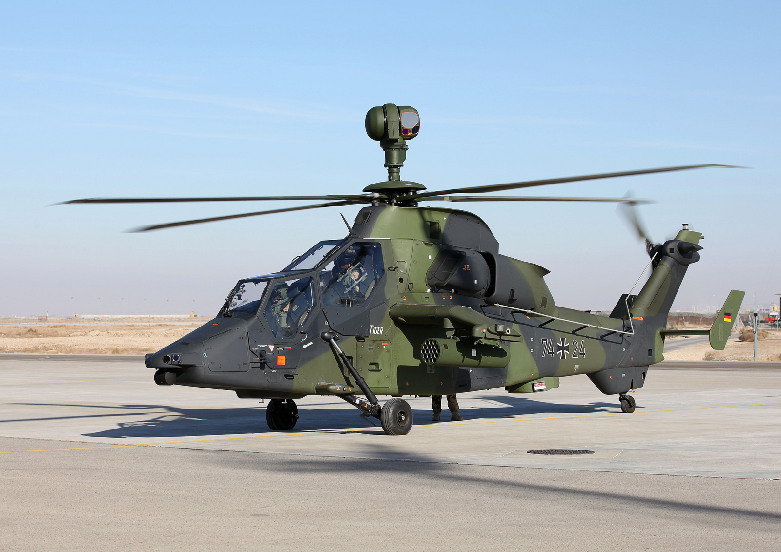 German Tiger Gunship Helicopter Starts Operations in ...