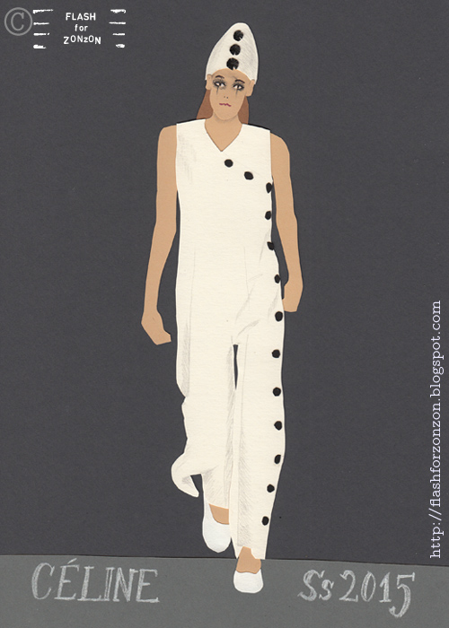 Céline SS 2015 as Pierrot the Clown