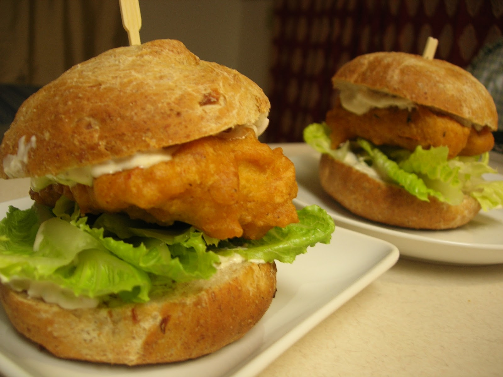 Vital vegan beer battered tempeh fish sandwiches with for Tartar sauce for fish