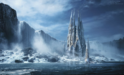 water-castle-fantasy-wallpaper