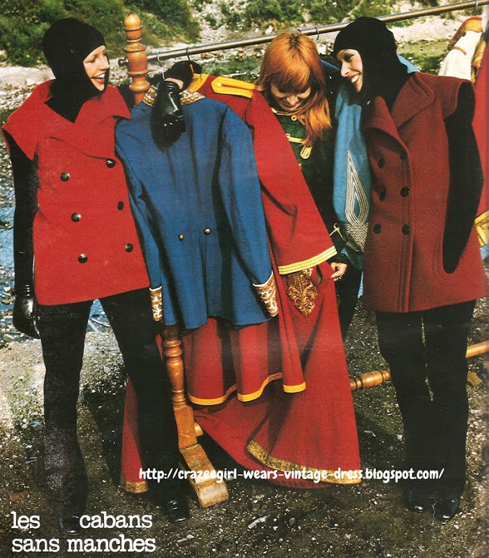 Sleeveless Pea Coats - Pierre Cardin - 1971 70s 1970