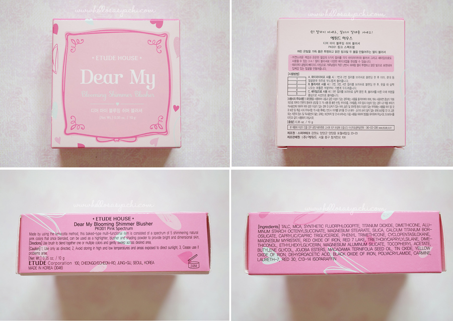 sasyachi beauty diary etude house dear my blooming shimmer blusher pk001 pink spectrum review. Black Bedroom Furniture Sets. Home Design Ideas