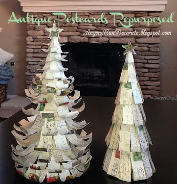 Antique Post Card Christmas Trees